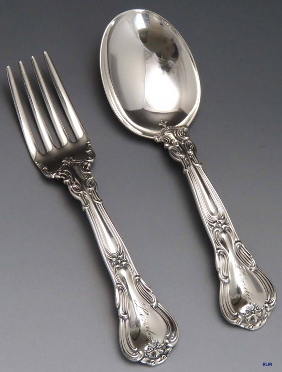 VERY GOOD CONDITION GORHAM CHANTILLY STERLING SILVER PLACE FORK