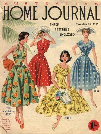 1955 (Nov. 1) Australian Home Journal | Women\'s Fashion, 1950-1959 ...