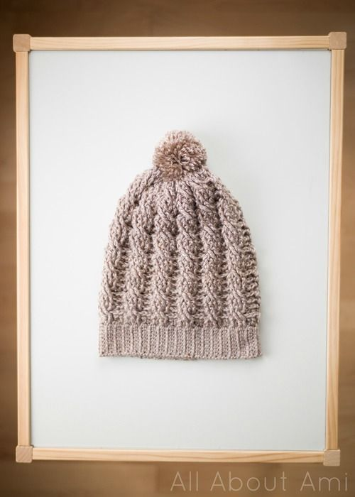 Cabled Slouchy Beanie, free crochet pattern & tutorial | All About ...