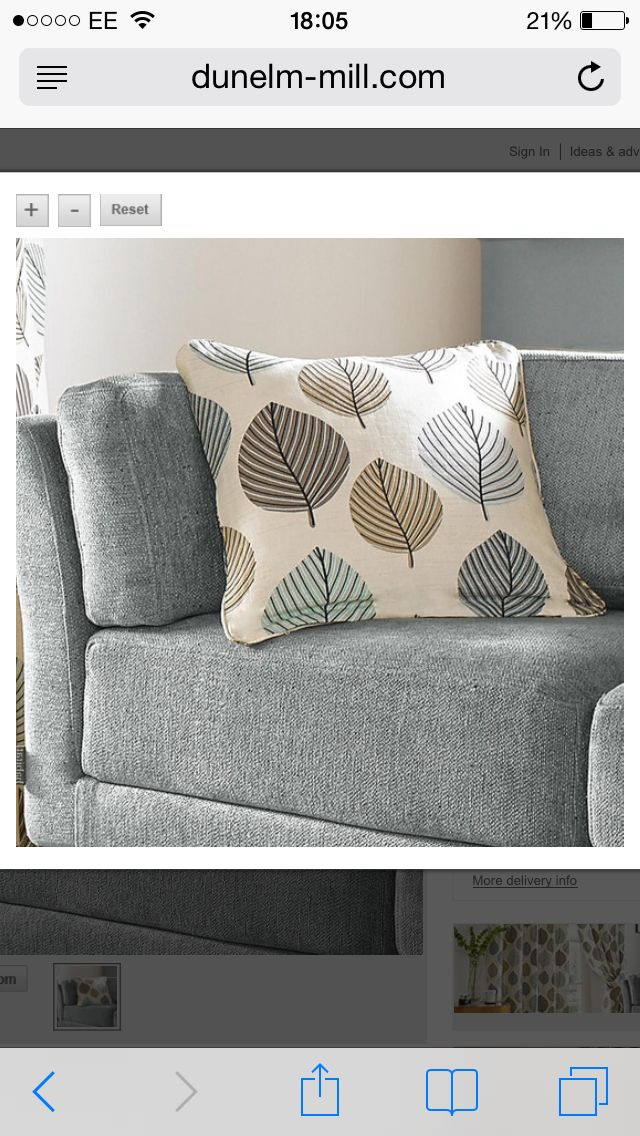 Grey Chair With Blue And Green Cushion Lounge Duck Egg