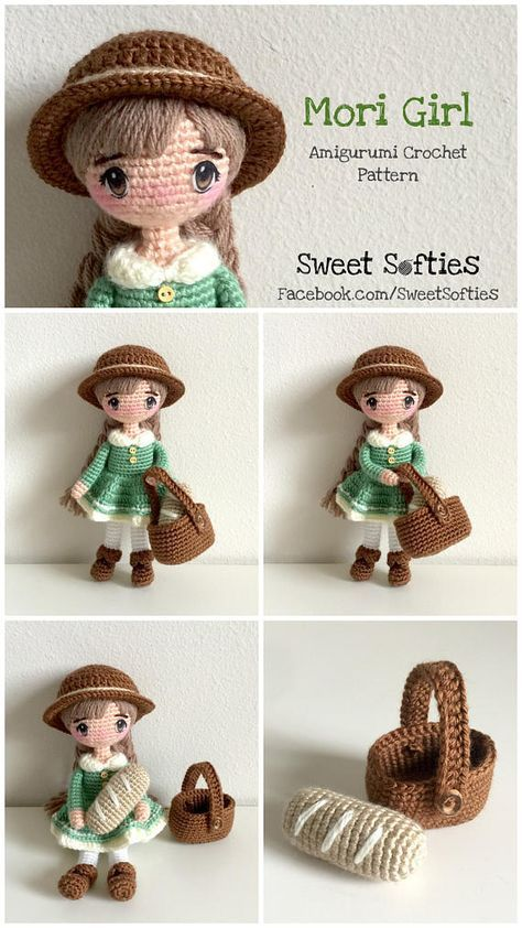 Mori Girl Doll Amigurumi Crochet Pattern - Fairy Tale Kawaii Anime ...