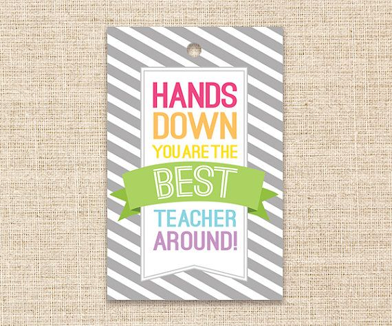 picture relating to Hands Down You Re the Best Teacher Around Free Printable referred to as Instructor Present Printable Exclusive Items for Academics through