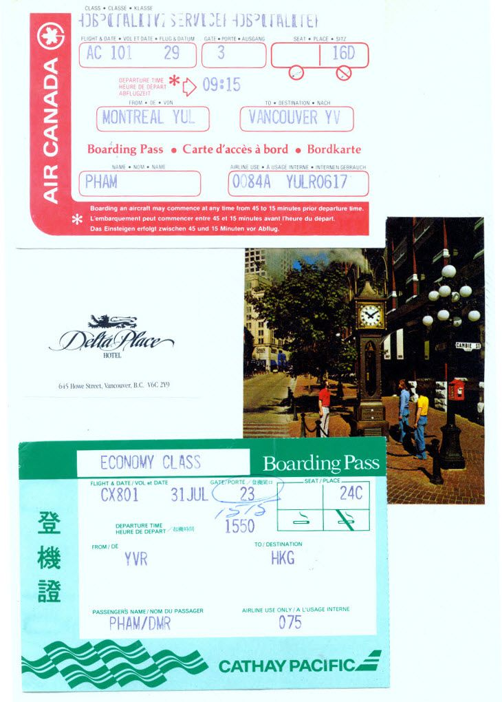 1988 07 29 Ac 101 Montreal Yul To Vancouver Yvr Boarding Pass