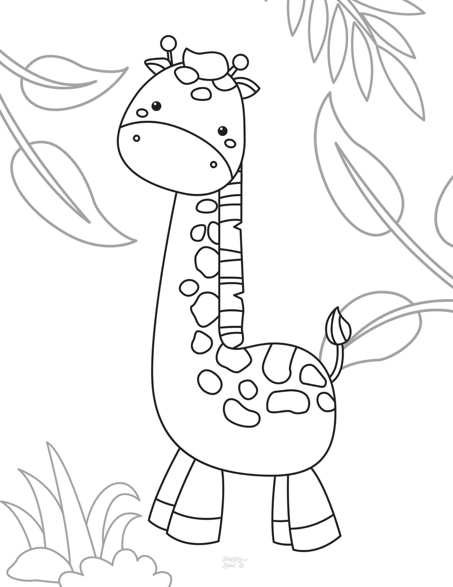 Cute Giraffe Coloring Pages Free Printables Healthy And Lovin It In 2021 Giraffe Coloring Pages Zoo Coloring Pages Coloring Pages [ 2000 x 1545 Pixel ]