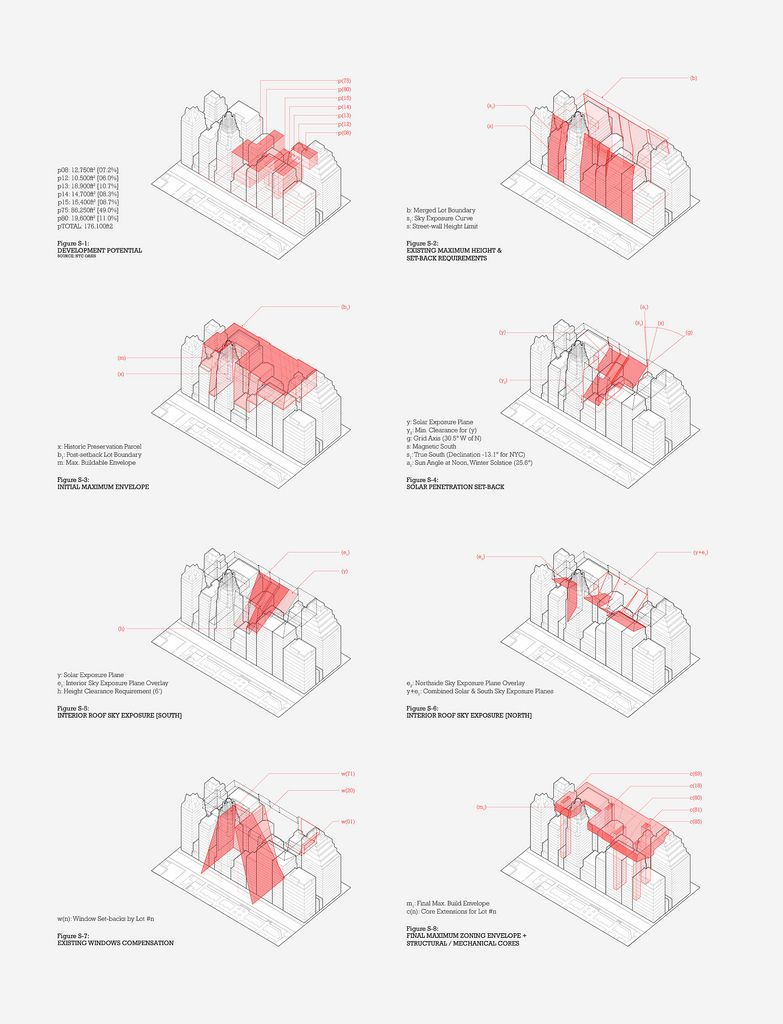 zoning diagrams bryant park site arch drawings pinterest