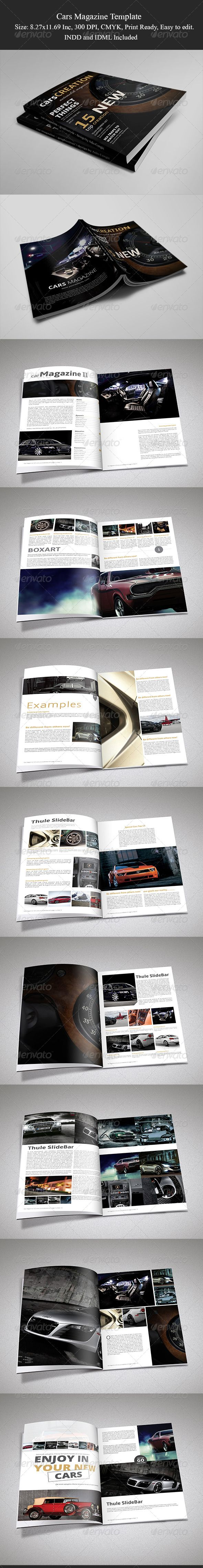 Cars Magazine Template II  #cars catalogue  #InDesign #8.27x11.69 • Click here to download ! http://graphicriver.net/item/cars-magazine-template-ii/6193736?s_rank=72&ref=pxcr