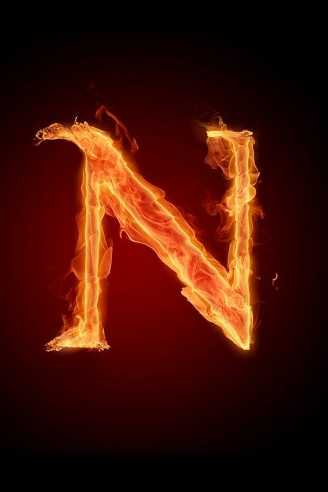 N on fire | Alphabet on fire in 2019 | Alphabet pictures, Lettering, Letter n