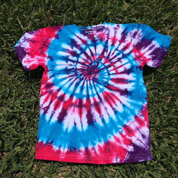 20fbce24 5T Hot Hibiscus, Turquoise and Purple Swirl Tie Dye Shirt, Girls Tie Dye,  Girls Shirt, Boho Shirt, B