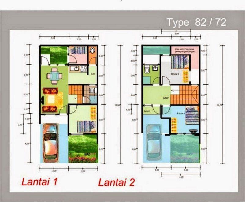 71 Koleksi Gambar Rumah 2 Lantai Ukuran 8x12 Gratis