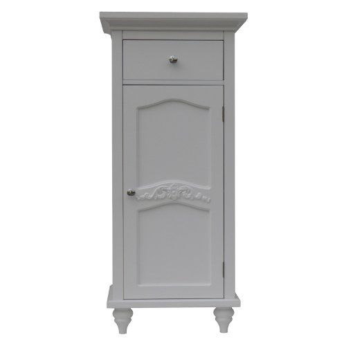Versailles Floor Cabinet With 1door And 1 Drawer By Elegant Home Fashions 106 99 Color White Easy Assemb Elegant Homes Elegant Home Fashions Cabinet Doors