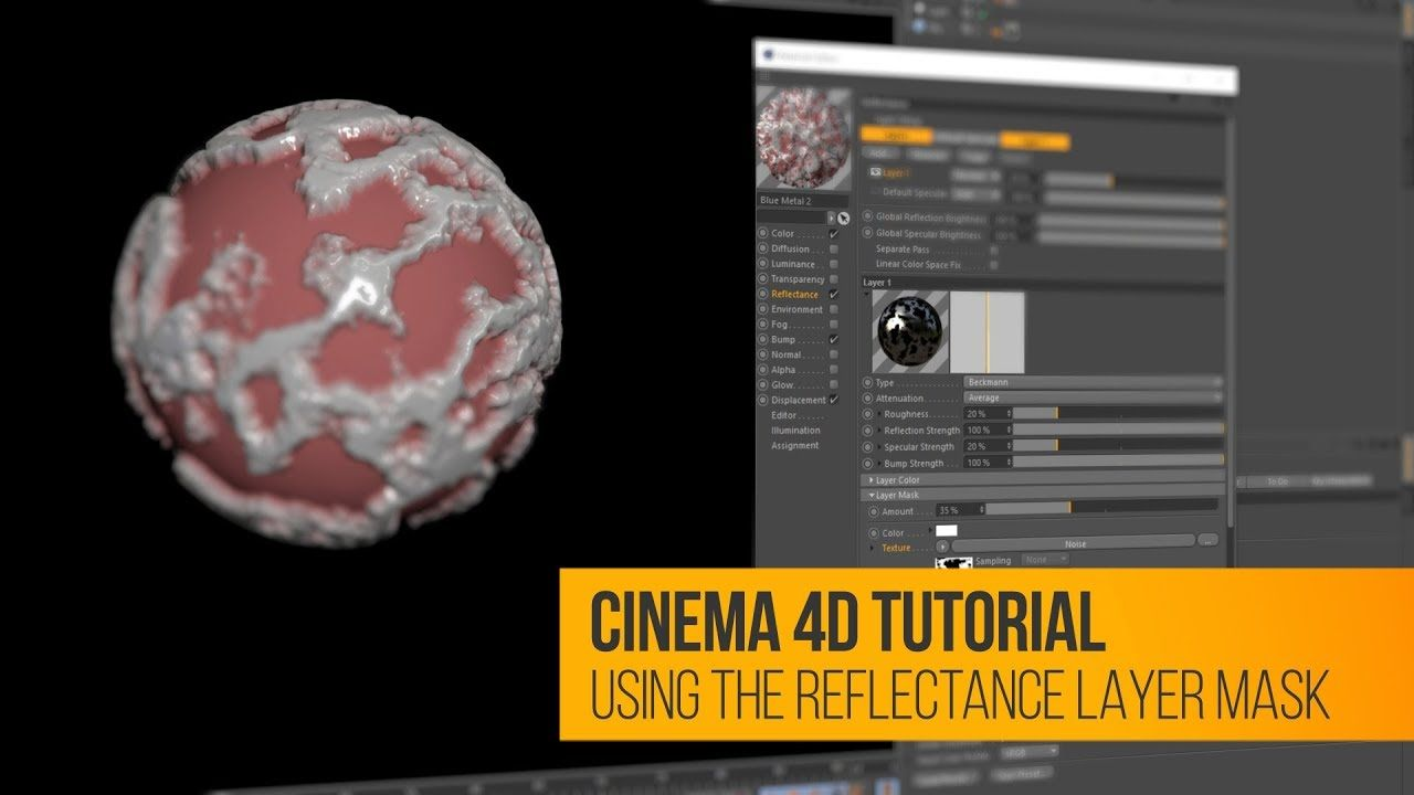 C4d tutorial using layer masks in the reflectance channel c4d c4d tutorial using layer masks in the reflectance channel gumiabroncs Choice Image