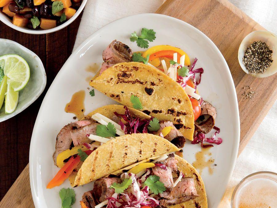 Flank Steak Tacos with Slaw