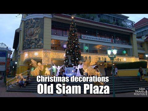 christmas decorations old siam plaza in bangkok youtube christmas decorations shopping malls pinterest