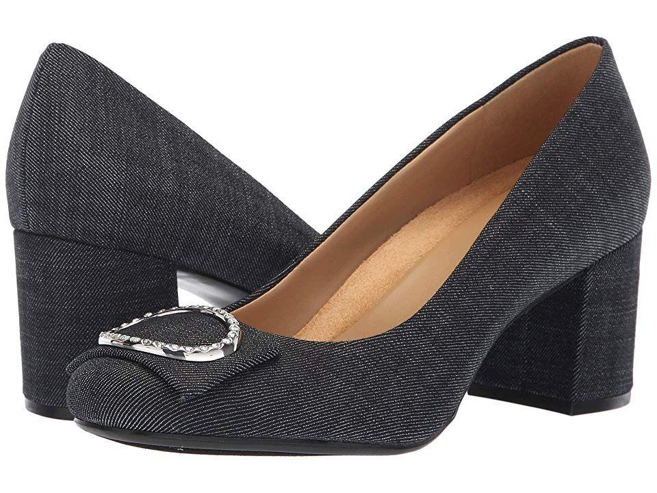 Naturalizer Wright High Heels Dark Blue Denim Fabric