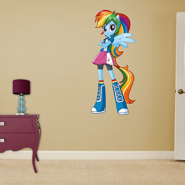 Rainbow Dash - Equestria Girls REAL.BIG. Fathead – Peel & Stick Wall ...