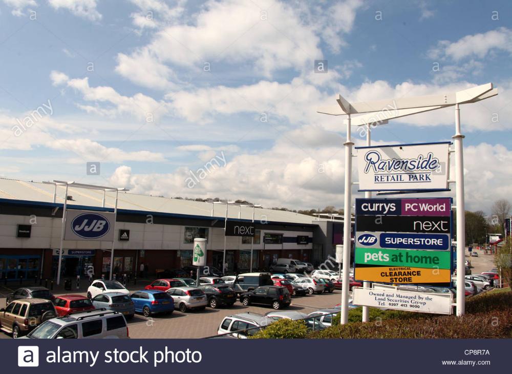 Ravenside Retail Park In Chesterfield Retail Park Photo Stock Photos