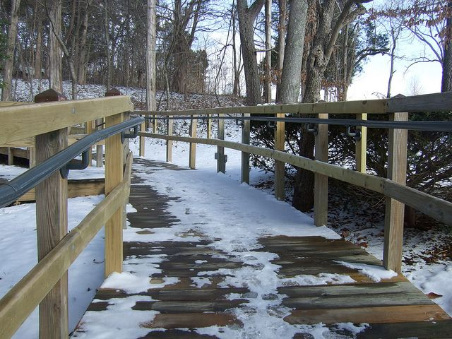 Best Ada Railing Install Lincoln Birthplace Nhp By Simplified 640 x 480