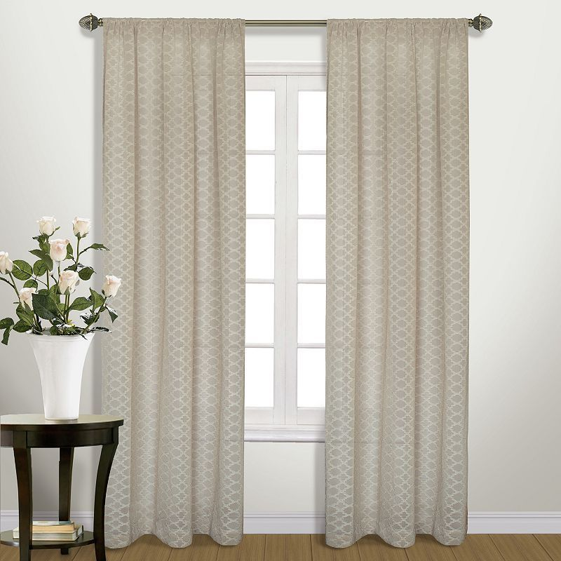 United Curtain Co Belmont Semi Sheer Window Curtain Products