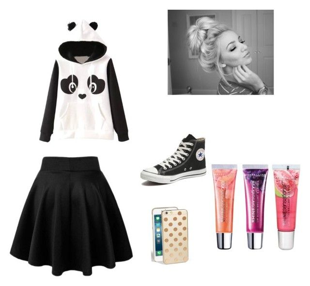 I hate going to school by cc102205 on Polyvore featuring polyvore, мода, style, Garcia, Converse, Kate Spade and Maybelline