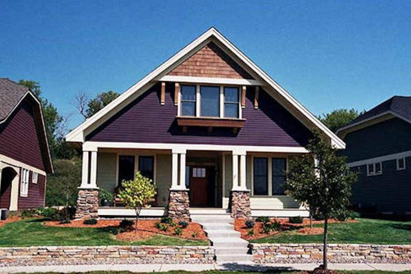 Craftsman Style House Plan - 2 Beds 1.5 Baths 1665 Sq/Ft Plan #51-346 Exterior - Front Elevation - Houseplans.com