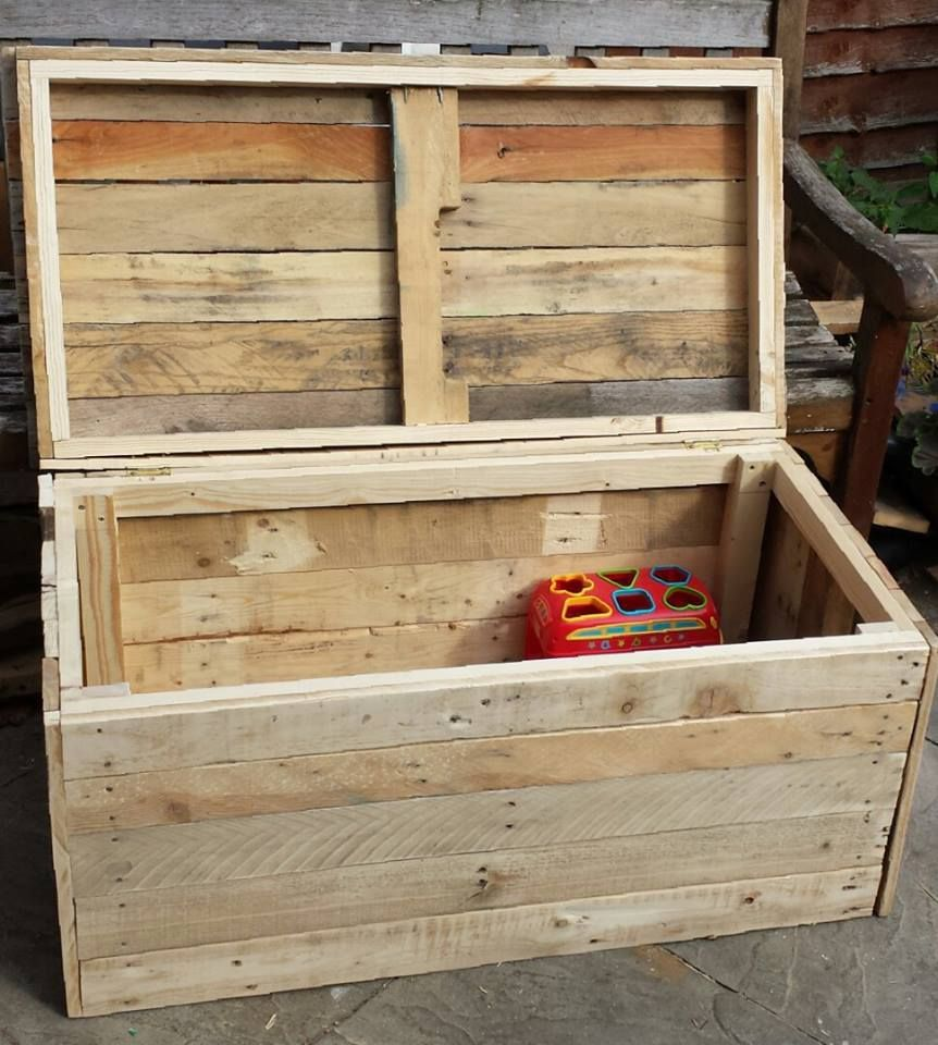 Toy Box Blanket Box Out Of Pallet Wood Alfiesworks0096 Reclaimed Lumber Projects Blanket Box Wood
