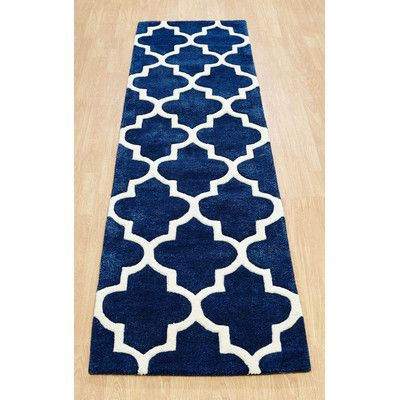 Best Oxon Hand Tufted Blue Rug Blue Rug Patterned Stair 400 x 300
