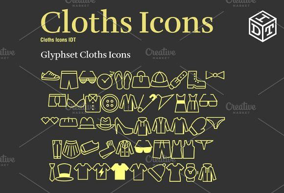 Cloths Icons Font Web Fontfree Icon Font Font Free And Free