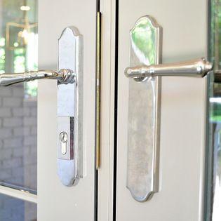 Exceptional Door Hardware   Levers   Omnia   Polished Nickel   Brandino Brass Co.