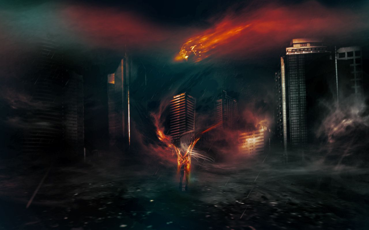 Create a surreal dark city with meteorite fall scene in photoshop create a surreal dark city with meteorite fall scene in photoshop baditri Choice Image