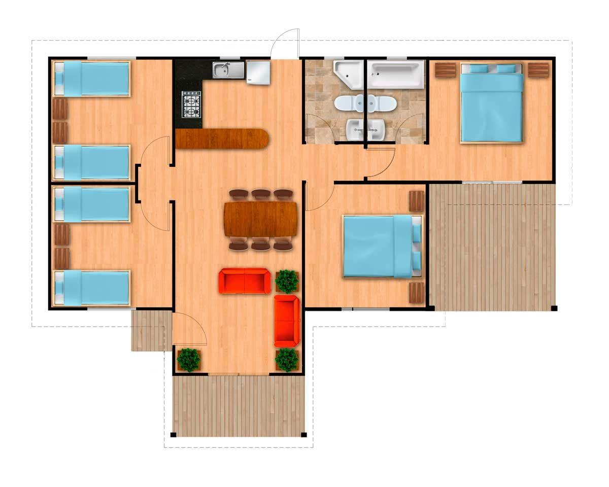 Distribuciones casas prefabricadas llave en mano casas for Casas prefabricadas americanas llave en mano