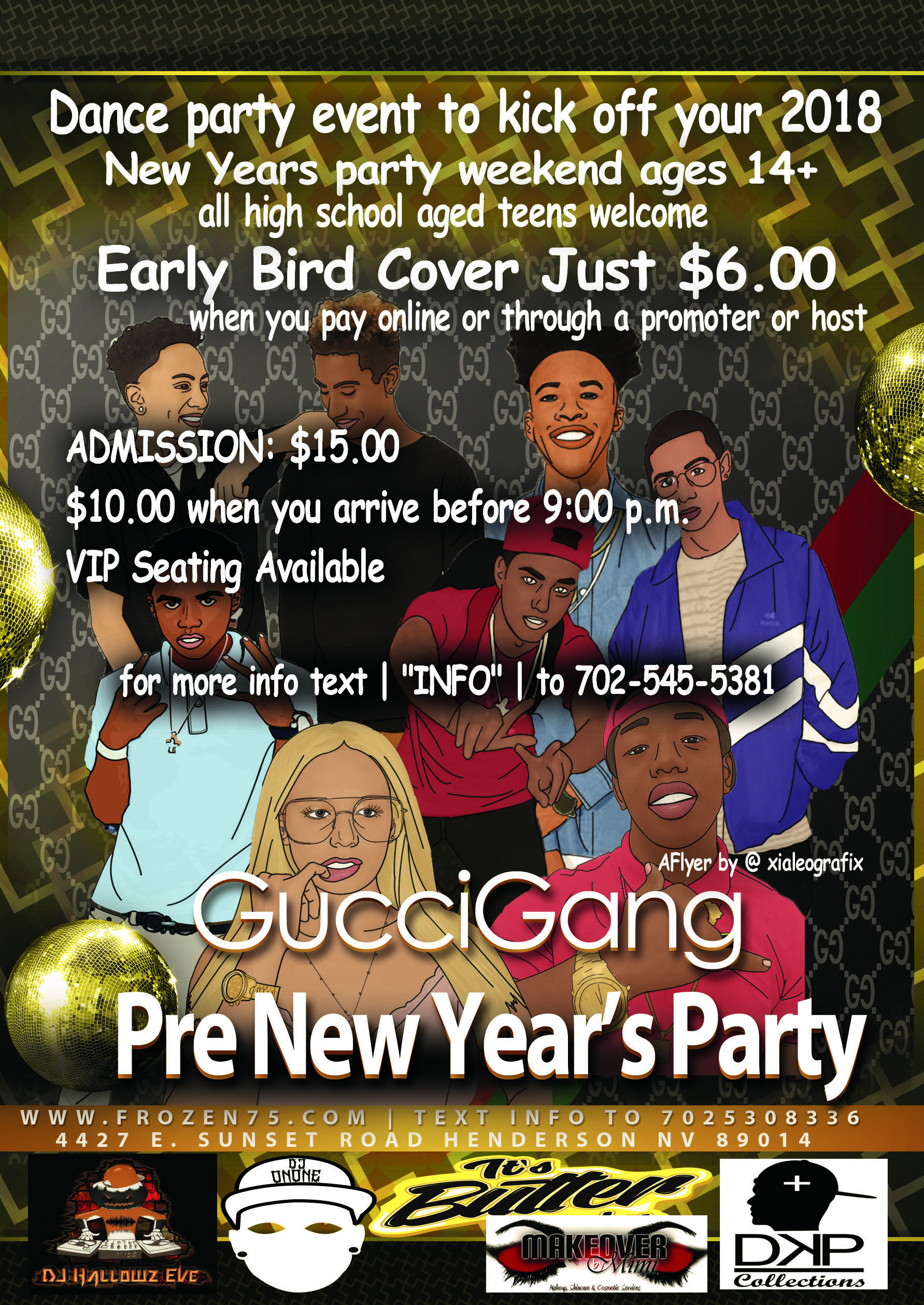 Gucci Gang Gucci Gang The Official Las Vegas Under 21 Dance Party Event To Kick Off Your 2018 New Years Par New Years Party High School Parties Party Tickets