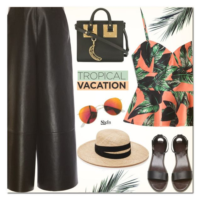 """Tropical Vacation"" by arohii ❤ liked on Polyvore featuring Lanvin, Sophie Hulme, Janessa Leone and TropicalVacation"