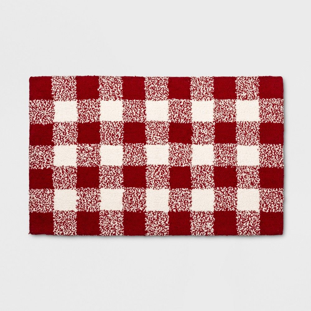 Get A Lively Look With The Red Buffalo Check Rug From Threshold This Medium