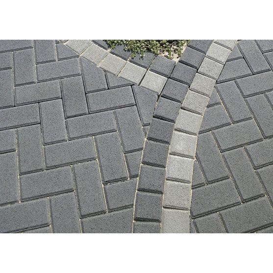 endstein zu rechteck pflaster beton grau 10 cm x 10 cm x 8 cm gardens. Black Bedroom Furniture Sets. Home Design Ideas
