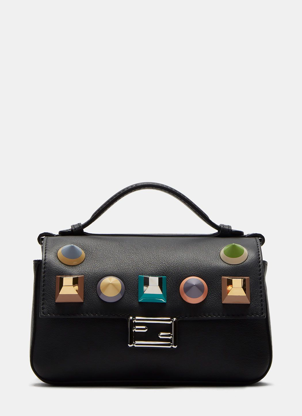 120490ae0d2c ... promo code explore latest handpicked womenswear arrivals featuring fendi  micro baguette geometric studded double sided bag cheap fendi side ...