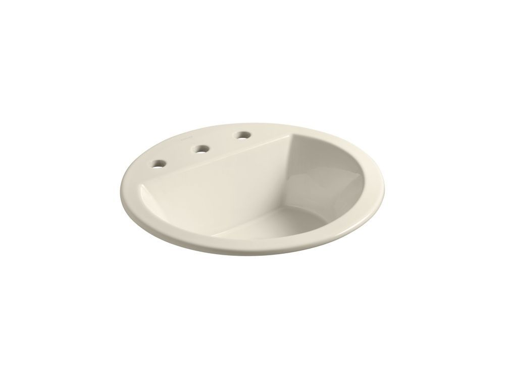 Bryant R Round Drop In Bathroom Sink With 8 Inch Widespread