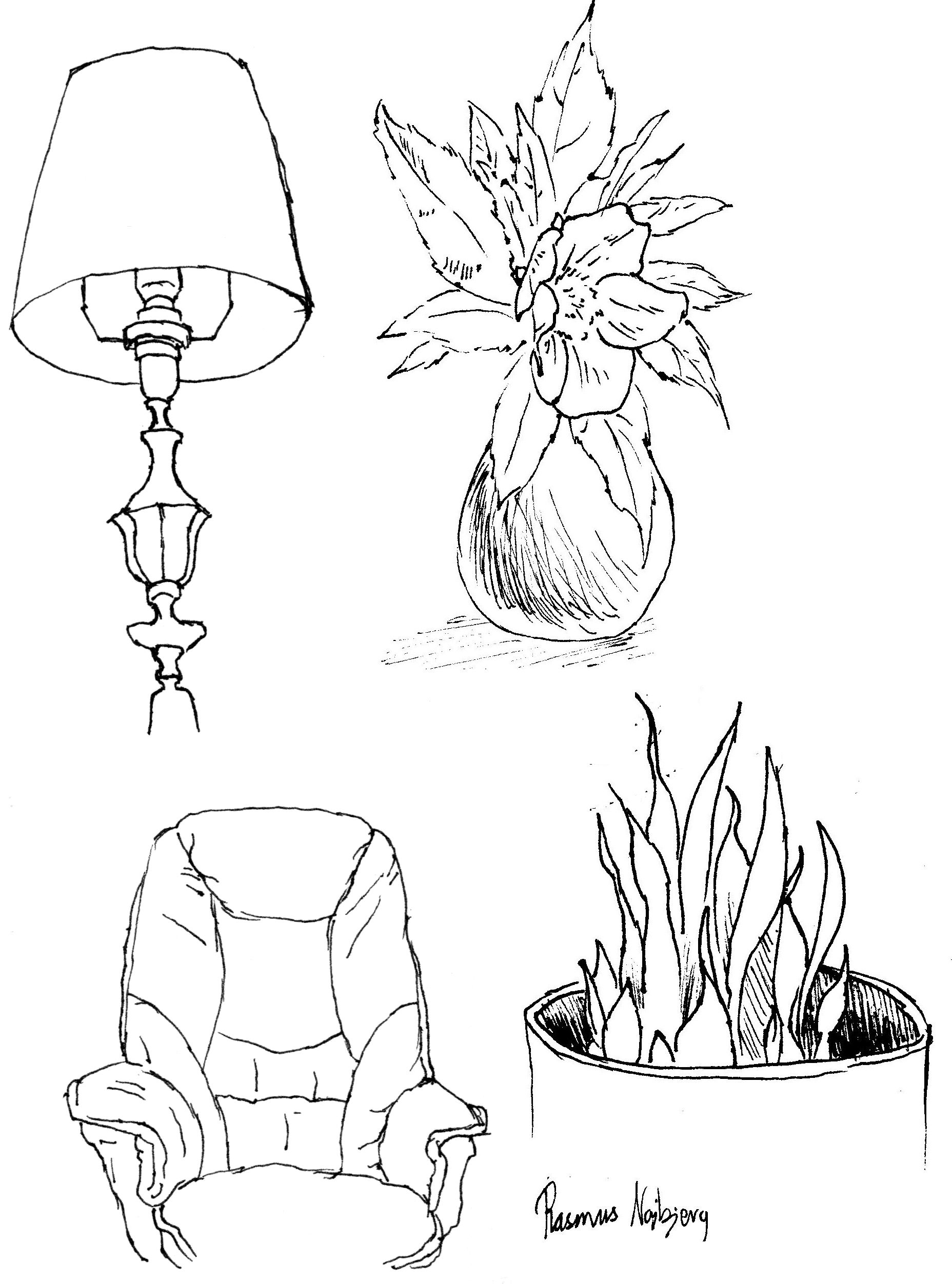 Living Room Sketch: Rasmus Najbjerg, Sketches In The Living Room.