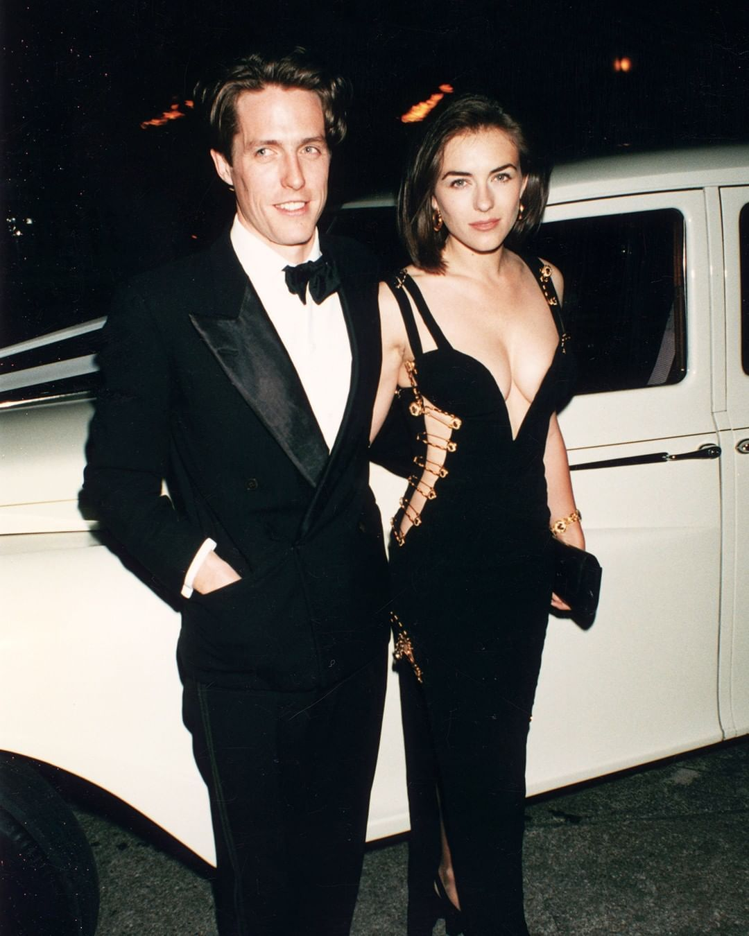 Harper S Bazaar Australia On Instagram This Safety Pin Versace Dress Might Be Considered Liz Hurley S Most Iconic Look Versace Dress Dapper Style Hugh Grant