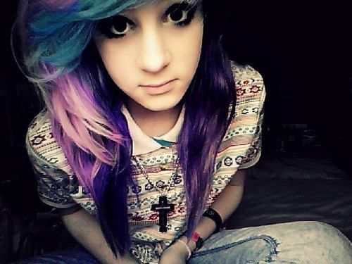 Remarkable Scene Hair Girl With Purple Hair And Colors On Pinterest Short Hairstyles Gunalazisus