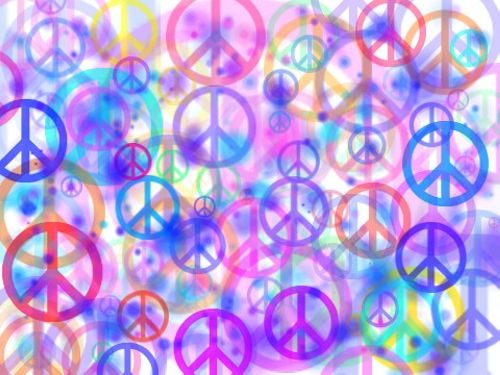 Lightning Waves Encircle The Peace Logo To Protect It From The