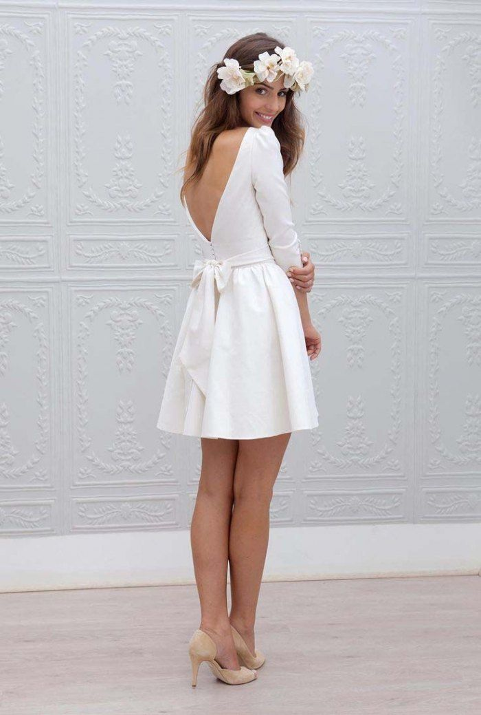 Robe de mariee robe courte