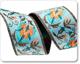 """1"""" Palmette in Turquoise - By Laura Foster Nicholson picture"""