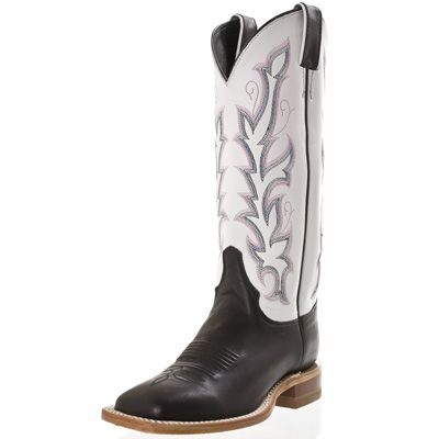 cf1d08a71662 Justin Bent Rail Black Burnished Calf Cowboy Boots