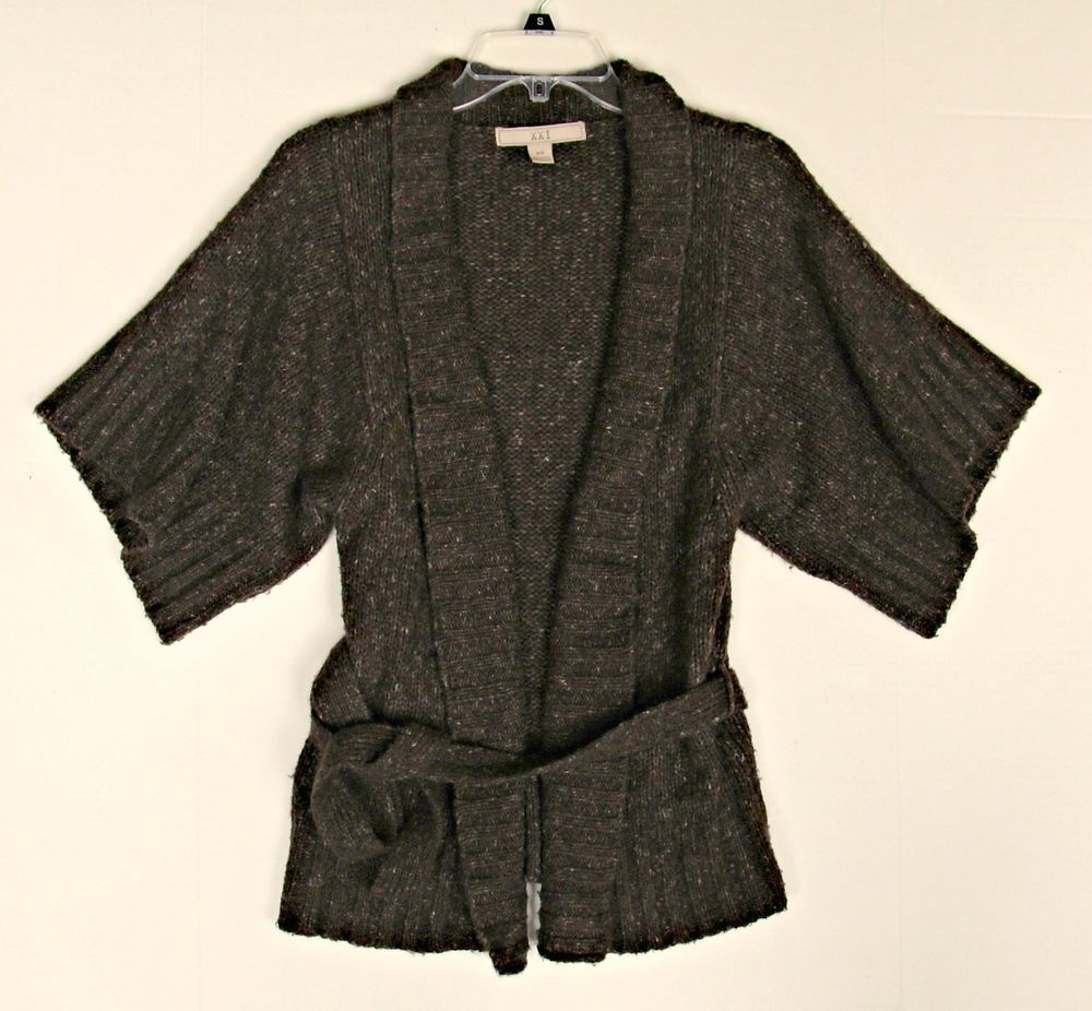 Details about Beautiful Womens Comfy Warm Brown Cardigan Size ...