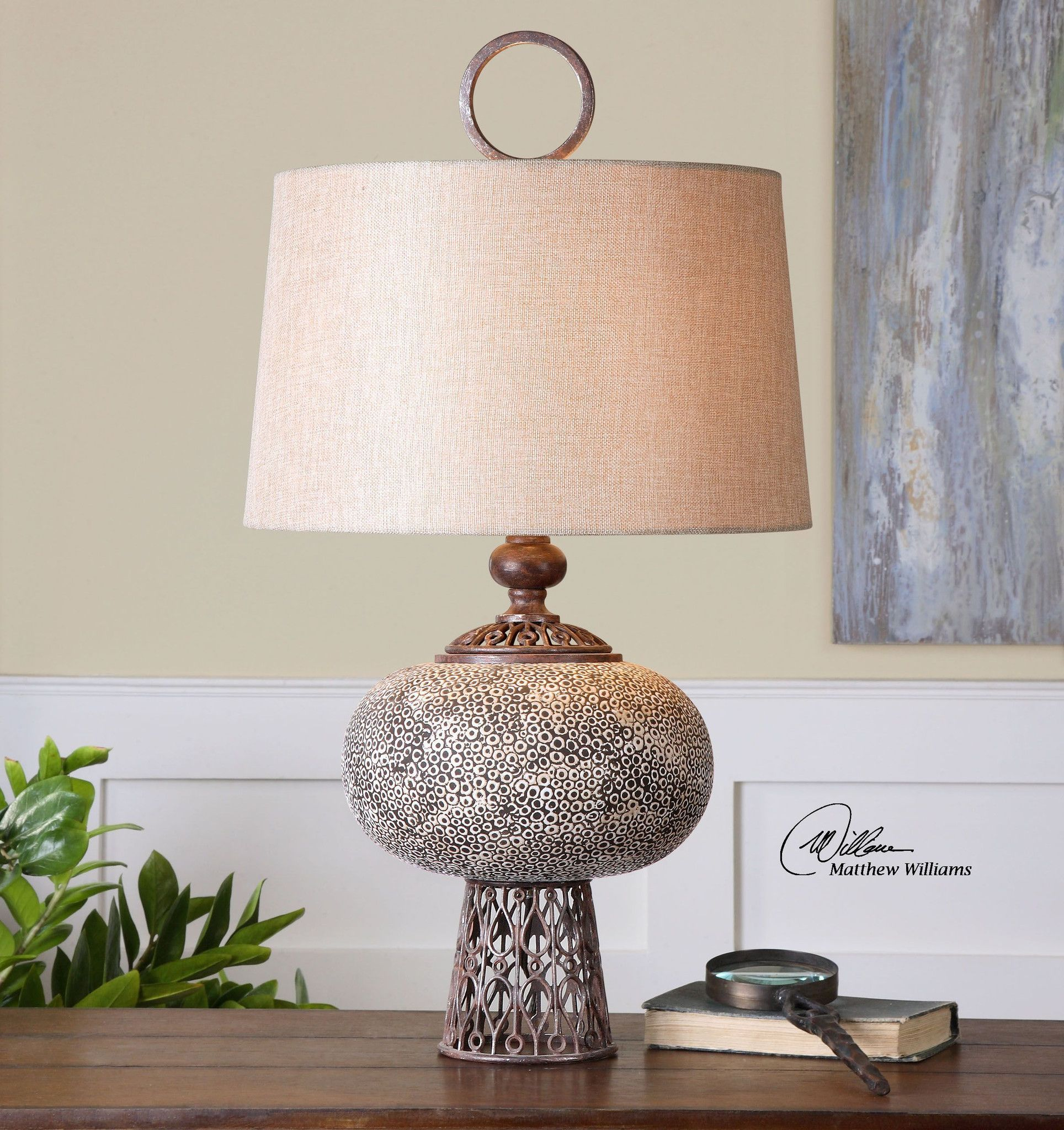 Uttermost adolphus ceramic lamp products pinterest products