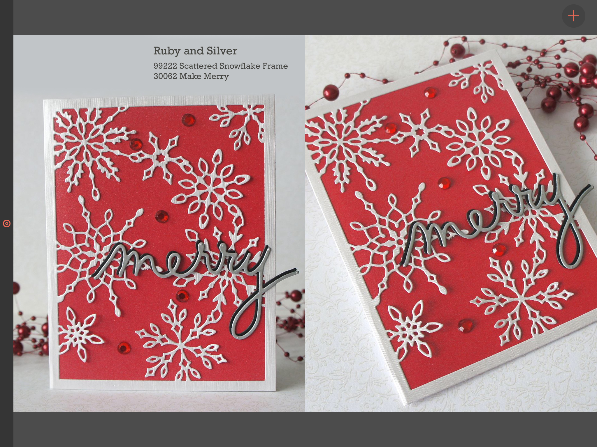Christmas card using scattered snowflake frame die | Cards to make ...