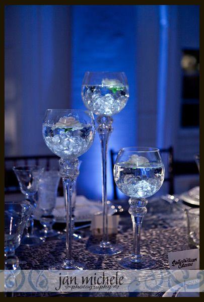 Candle Trio Blue Weddings In 2019 Diamond Party Denim