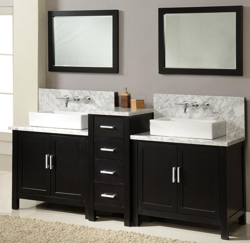 cabinet mahogany white bathroom double sink vanity talyn vessel vanities