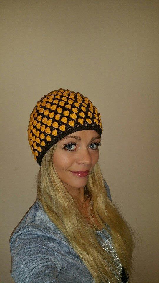 Mütze Yvonne   Hat & Şapka   Pinterest   Crochet, Crochet videos and ...