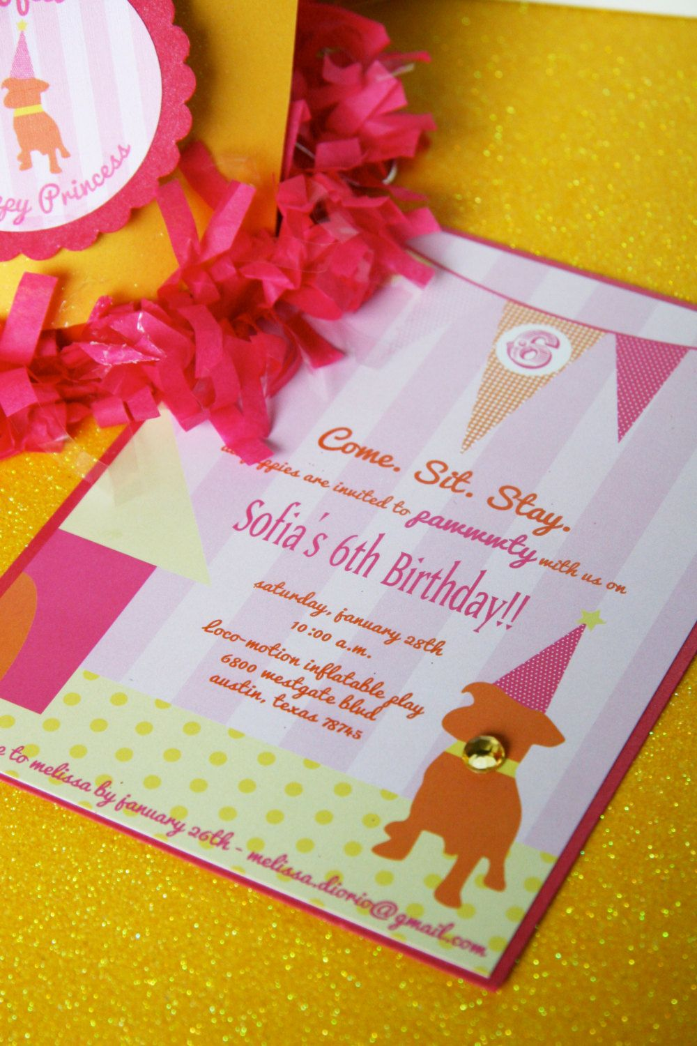 PUPPY PAWWWWTY Theme - Printable Birthday Invitation from The ...